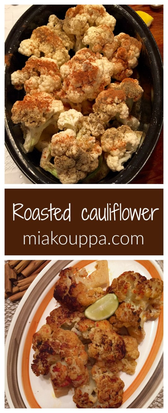 Slow roasted cauliflower with spices and tomato sauce