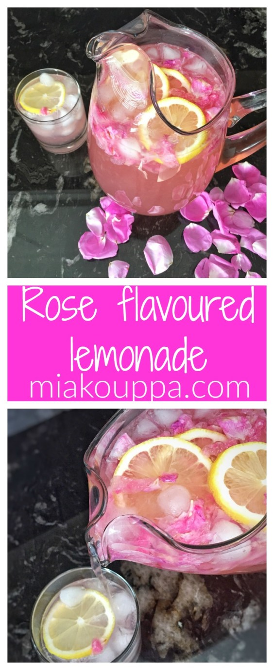 Rose flavoured lemonade