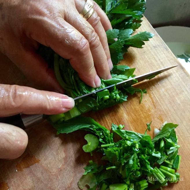 Herbs for Briam. Greek roasted vegetable recipe