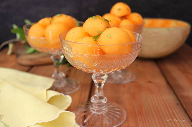 Cantaloupe with ouzo