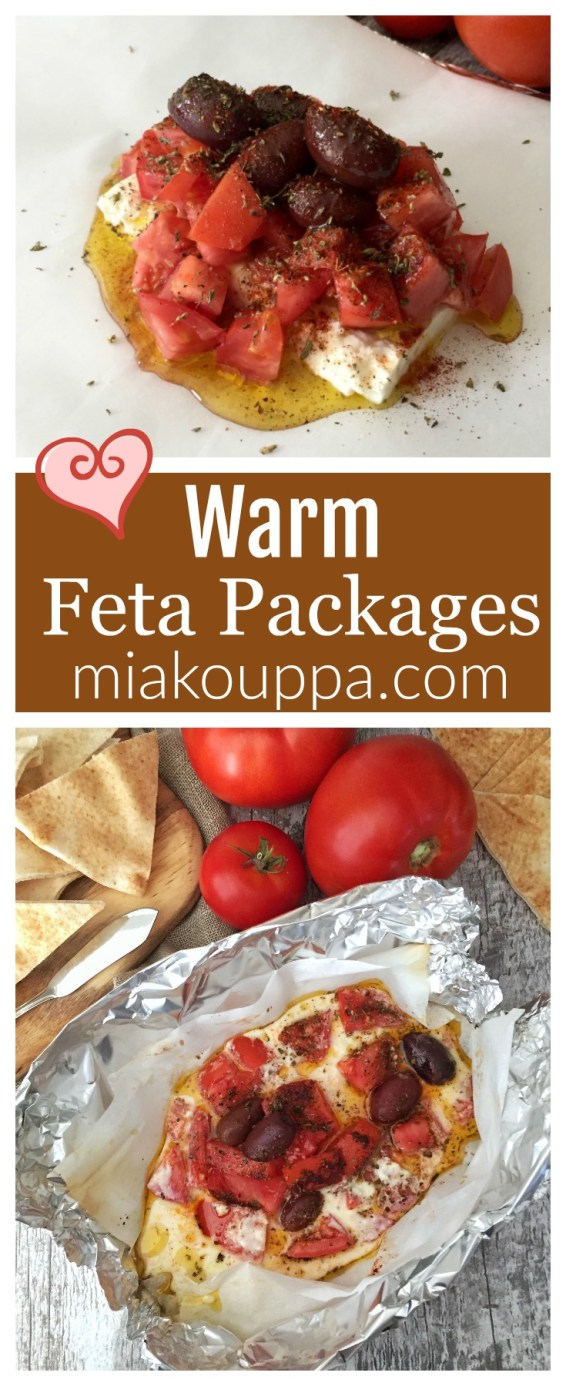 Warm feta packages