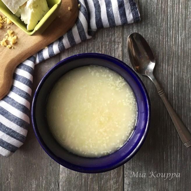 Trahana and feta (Τραχανάς σούπα με φέτα)