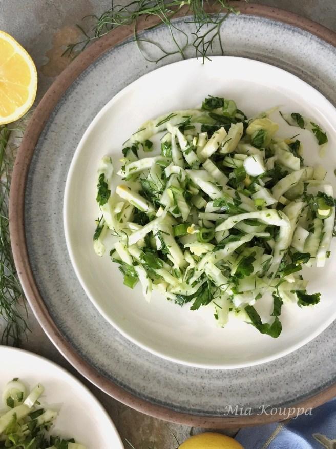 Fennel salad (Σαλάτα με μάραθο)