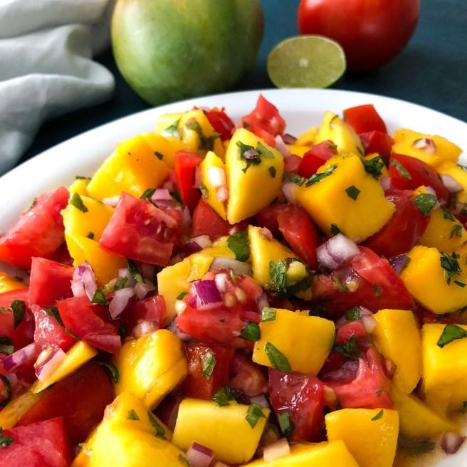 Tomato and Mango salad