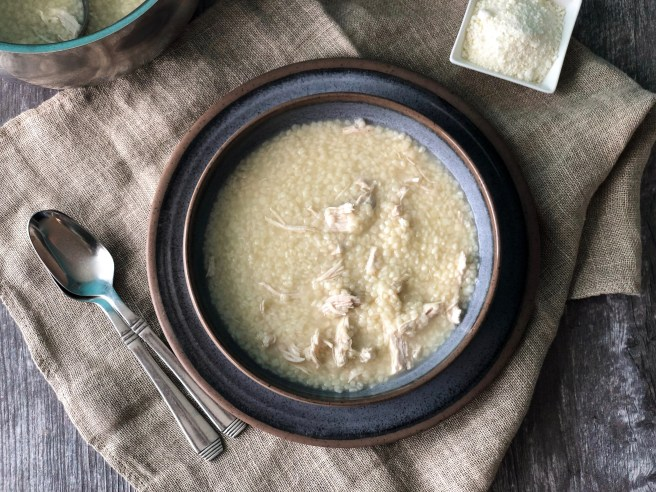Trahana soup with chicken