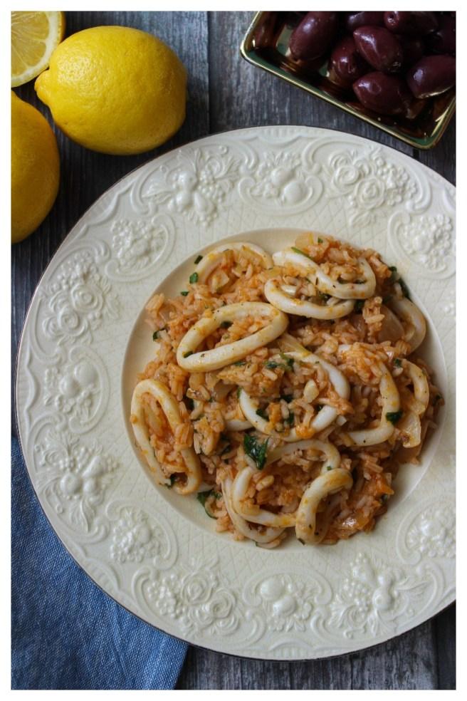 Calamari and rice
