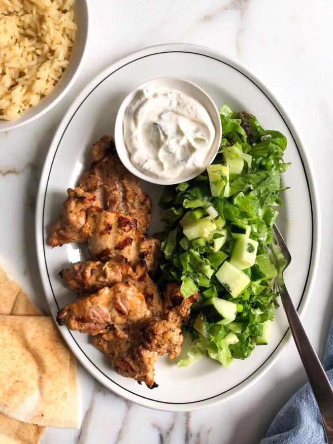 Greek marinated chicken thighs