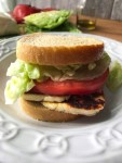Halloumi, lettuce and tomato sandwich