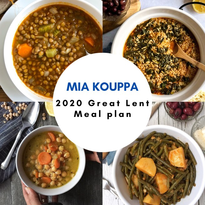 Mia Kouppa Great Lent meal plan
