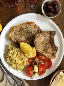 Pan-fried pork chops