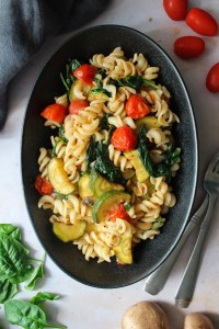 Gluten-free pasta with vegetables