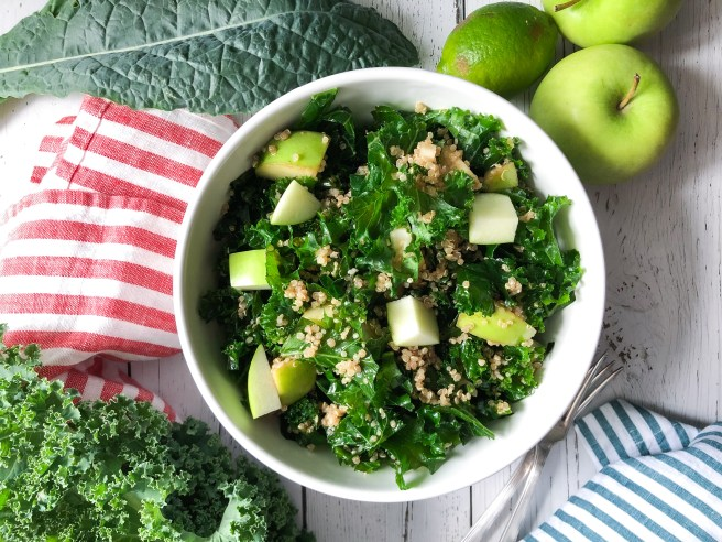 Kale, quinoa and apple salad is the perfect Fall salad