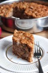 A Greek apple cake loaded with chunks of apple and flavoured with spices.
