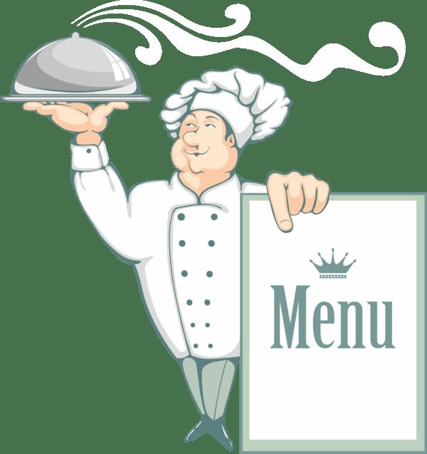 Cuisiniers Avec Pancarte