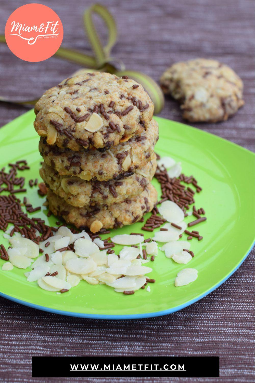 Biscuits vegan au chocolat amande