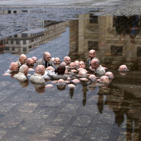 Image result for Isaac Cordal waiting for climate change