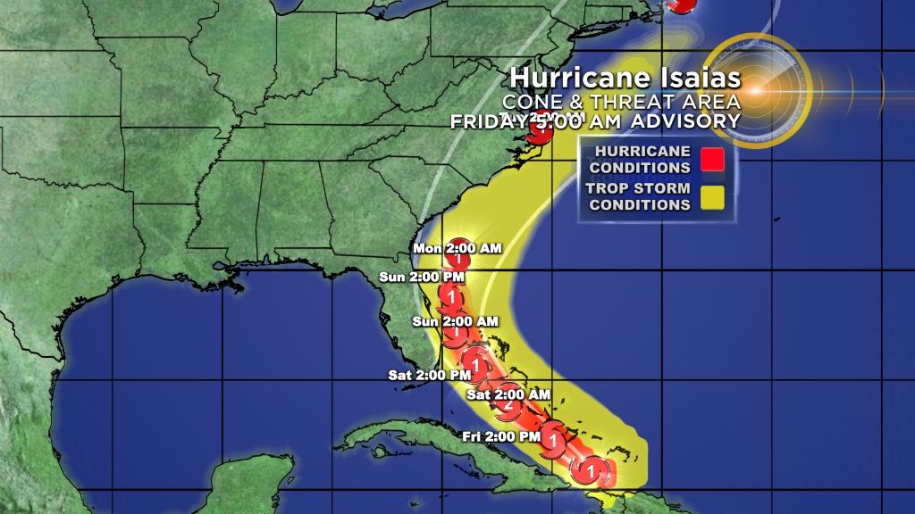 Florida Bahamas Brace As Hurricane Isaias Bears Down