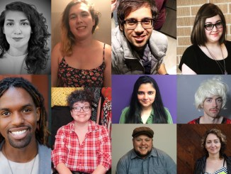 A photo collage featuring all ten playwrights whose works are featured in Nothing Without a Company's New Works Festival.