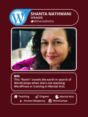 My Speaker Card from WordCamp Miami 2015