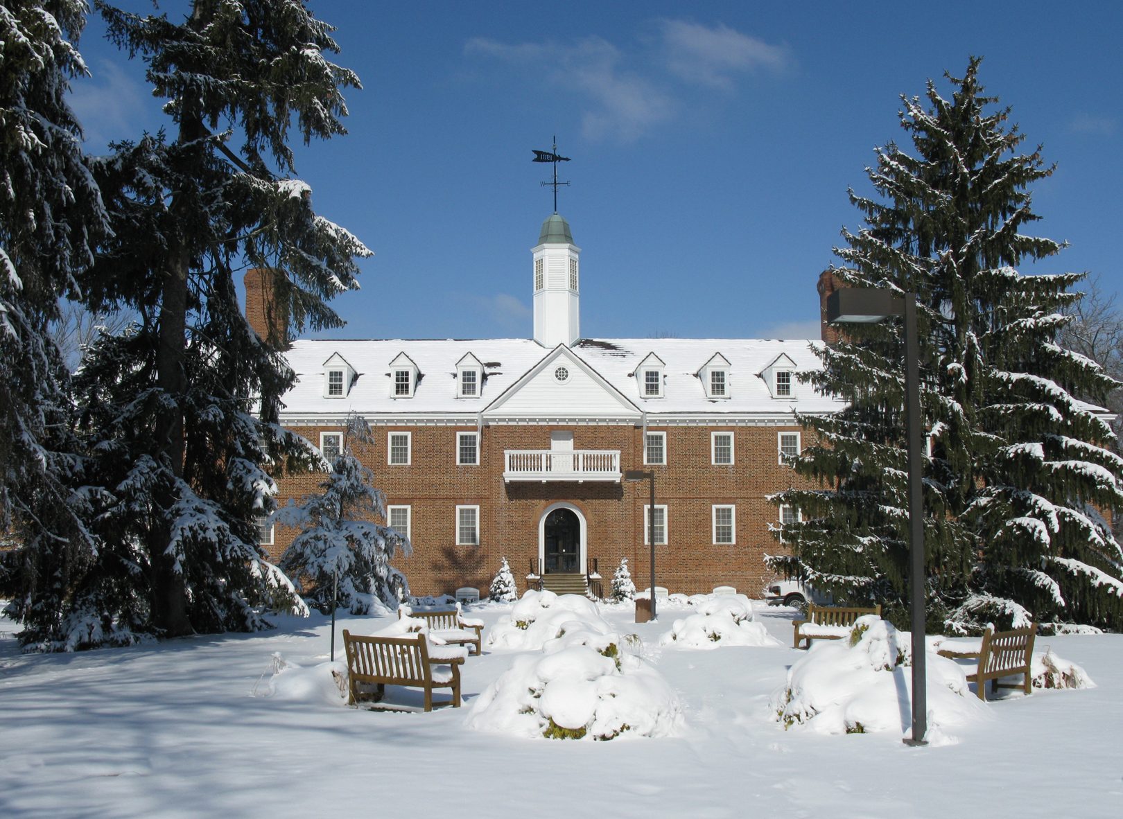 Marcum Conference Center in the winter