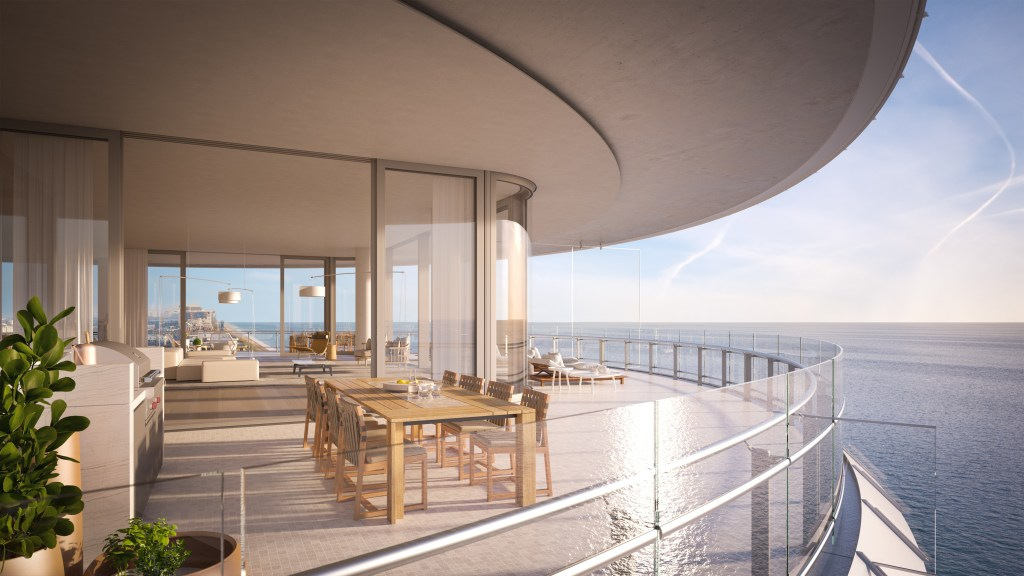 Eighty Seven Park Miami Outside Kitchen_