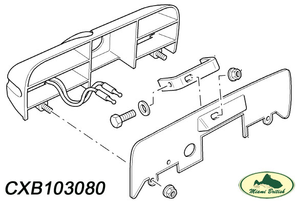 LAND ROVER TAIL GATE DOOR HANDLE DISCOVERY 2 II CXB103080