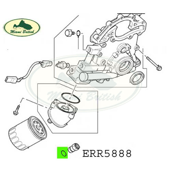 LAND ROVER FRONT COVER OIL FILTER ADAPTOR ORING O RING SET