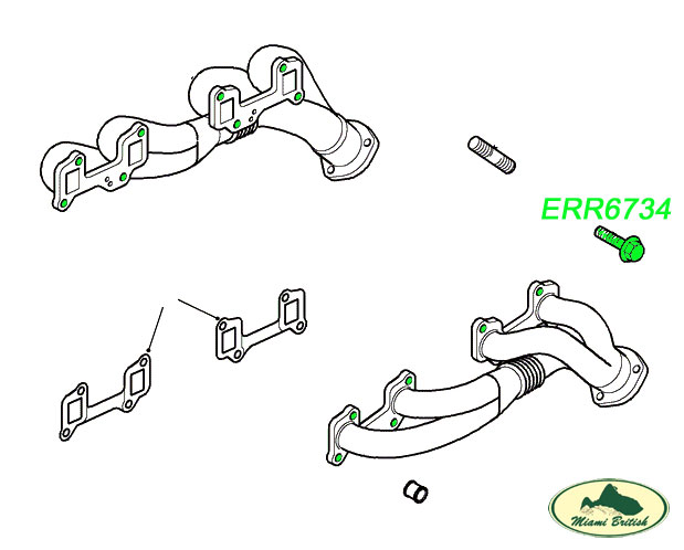 LAND ROVER EXHAUST MANIFOLD 3/8 SCREW SETx8 DISCOVERY