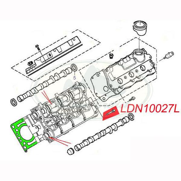 LAND ROVER HEAD GASKET KIT & BOLT SET FREELANDER 2.5 V6