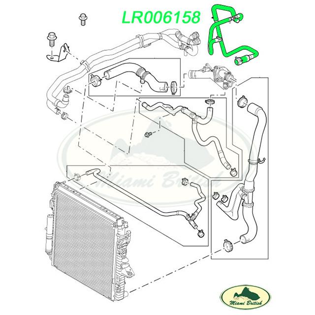 LAND ROVER COOLING THERMOSTAT HOSE RANGE SPORT LR3 V8