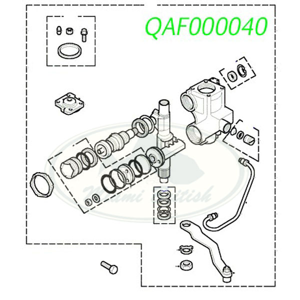 LAND ROVER STEERING GEAR BOX DISCOVERY II 99-02 QAF000040