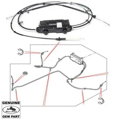LAND ROVER PARKING BRAKE ACTUATOR W/ CABLES RANGE SPORT
