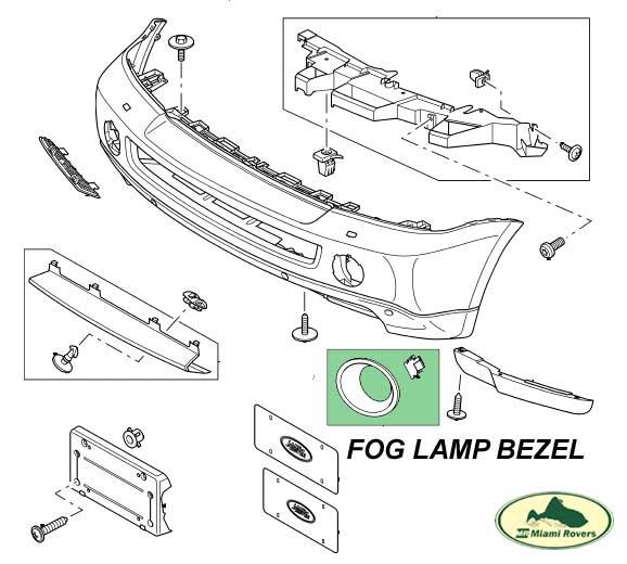 LAND ROVER FOG LAMP CARBON FIBER COVER BEZEL SET LR3