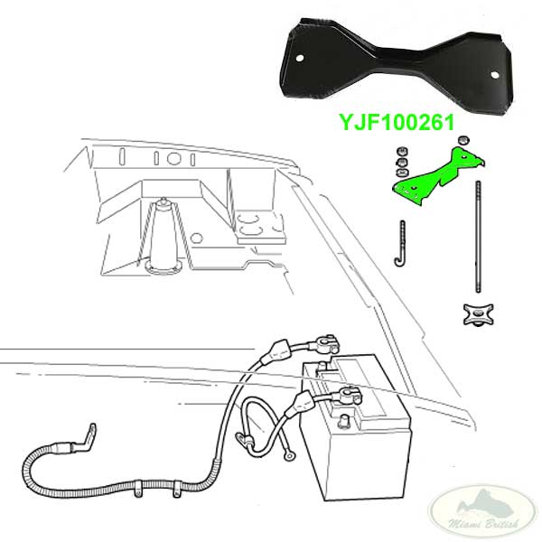 LAND ROVER FIXING BATTERY CLAMP HOLDER RETAINER DISCOVERY