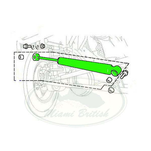 LAND ROVER STEERING DAMPER DISCOVERY 2 II 99-04 QHH100001
