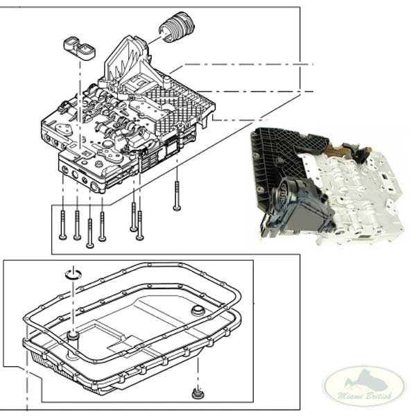 LAND ROVER TRANSMISSION VALVE CONTROL MODULE BODY ASSY LR3