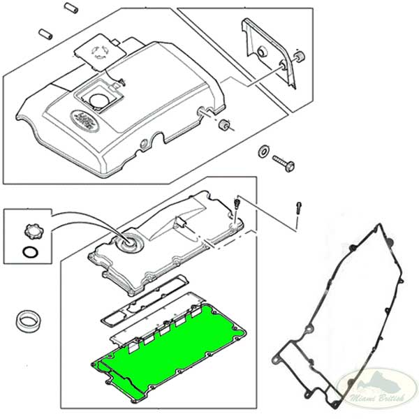 LAND ROVER HEAD CAM COVER GASKET Td5 DISCOVERY 2 II 02-04