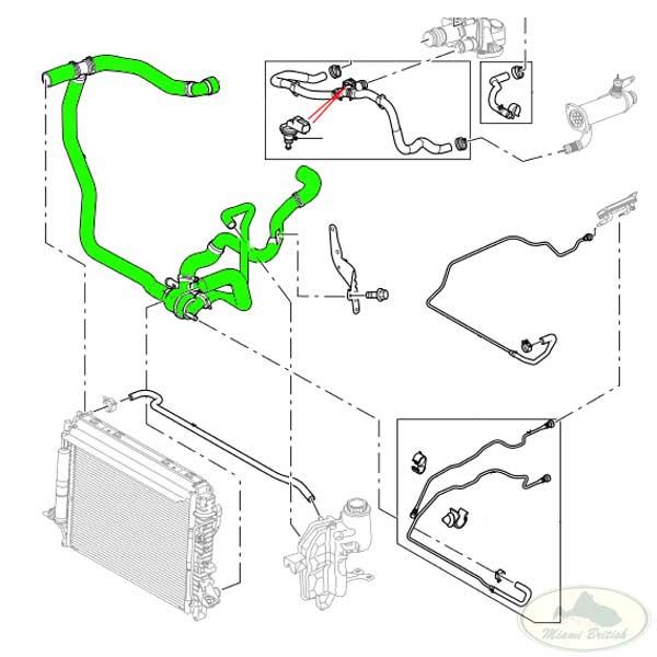 LAND ROVER HOSE & THERMOSTAT RR SPORT LR3 LR4 LION DIESEL
