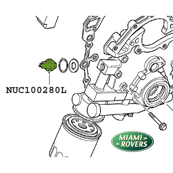 LAND ROVER SWITCH OIL PRESSURE ENGINE DISCOVERY II RANGE