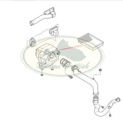 LAND ROVER AIR DUCT PIPE DIESEL 2.7L V6 LR3 LR4 RANGE