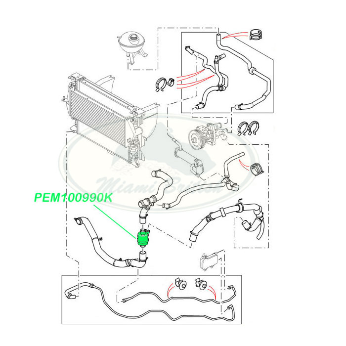 LAND ROVER THERMOSTAT ASSY DISCOVERY 2 II PEM100990 OEM