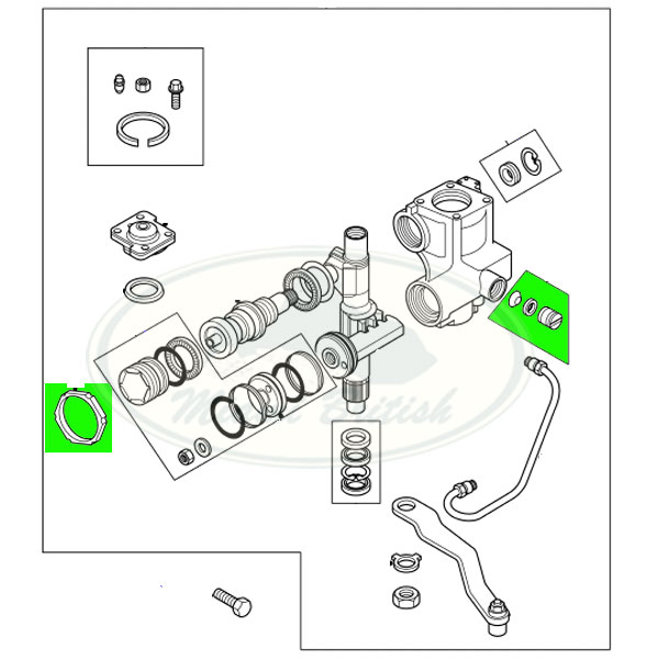 LAND ROVER POWER STEERING GEAR BOX REPAIR KIT DISCOVERY 2