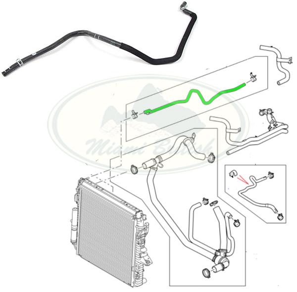 LAND ROVER RADIARTOR TO INTAKE HOSE LR3 LR4 V6 4.0L