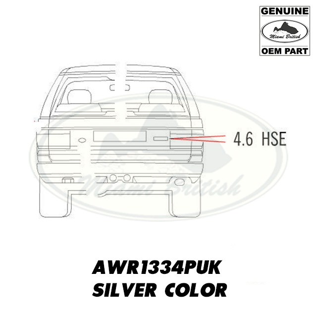 LAND ROVER RR P38 4.6 HSE TAIL GATE DECAL EMBLEM BADGE
