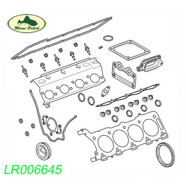 LAND ROVER GASKET KIT SET RANGE SPORT LR3 RANGE ROVER V8 4