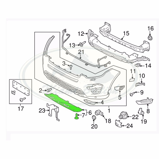 LAND ROVER FRONT BUMPER LOWER COVER DISCOVERY SPORT