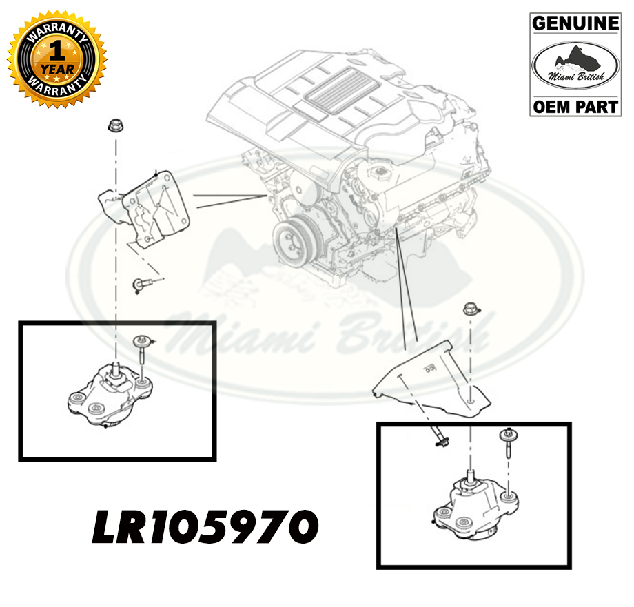 LAND ROVER ENGINE MOUNTING BRACKET RR SPORT RANGE 5.0L V8