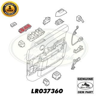 LAND ROVER WINDOW SWITCH BEZEL LH RANGE 13-17 LR048732