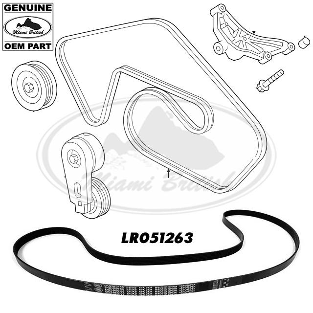 LAND ROVER SERPENTINE DRIVE BELT LR4 DISCOVERY 4 3.0L V6
