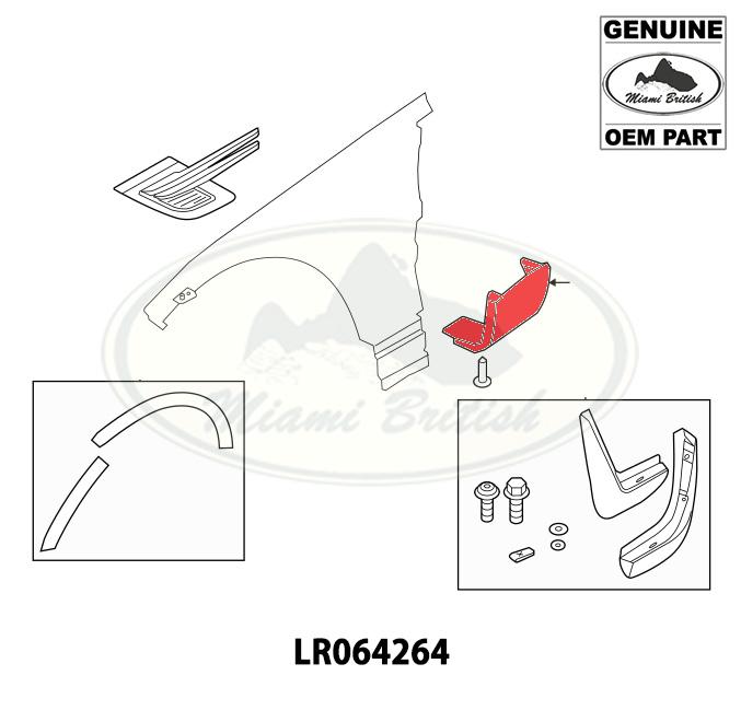 LAND ROVER FRONT LOWER MOULDING RH RR SPORT 14-19 LR064264